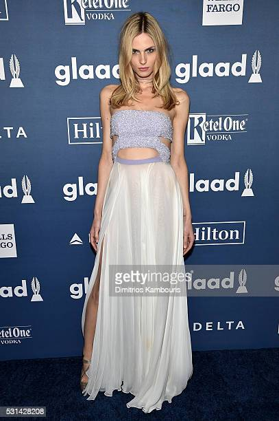 Model Andreja Pejic attends the 27th Annual GLAAD Media Awards in New York on May 14 2016 in New York City