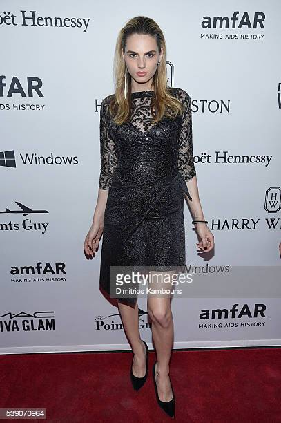 Model Andreja Pejic attends the 7th Annual amfAR Inspiration Gala at Skylight at Moynihan Station on June 9 2016 in New York City