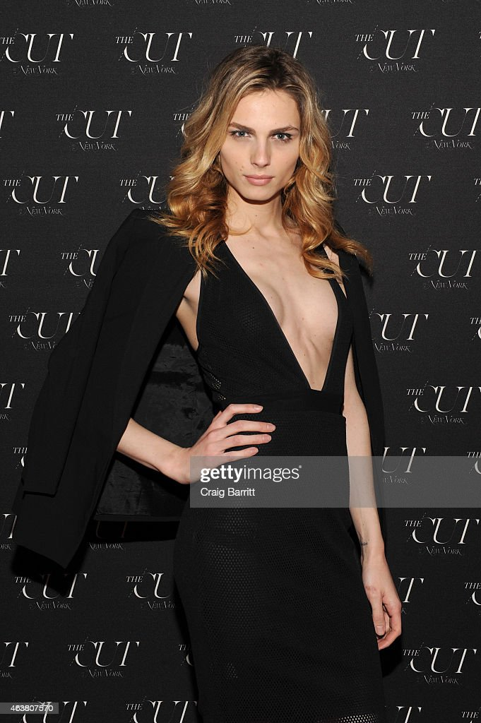 Model Andreja Pejic attends The Cut & New York Magazine's Fashion Week Party at Gramercy Park Hotel on February 18, 2015 in New York City.