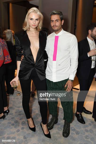 Model Andrej Pejic attends the Daily Front Row's Fashion Media Awards at Four Seasons Hotel New York Downtown on September 8 2017 in New York City