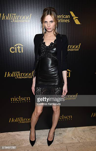 Model Andreja Pejic attends The Hollywood Reporter's 5th Annual 35 Most Powerful People in New York Media on April 6 2016 in New York City