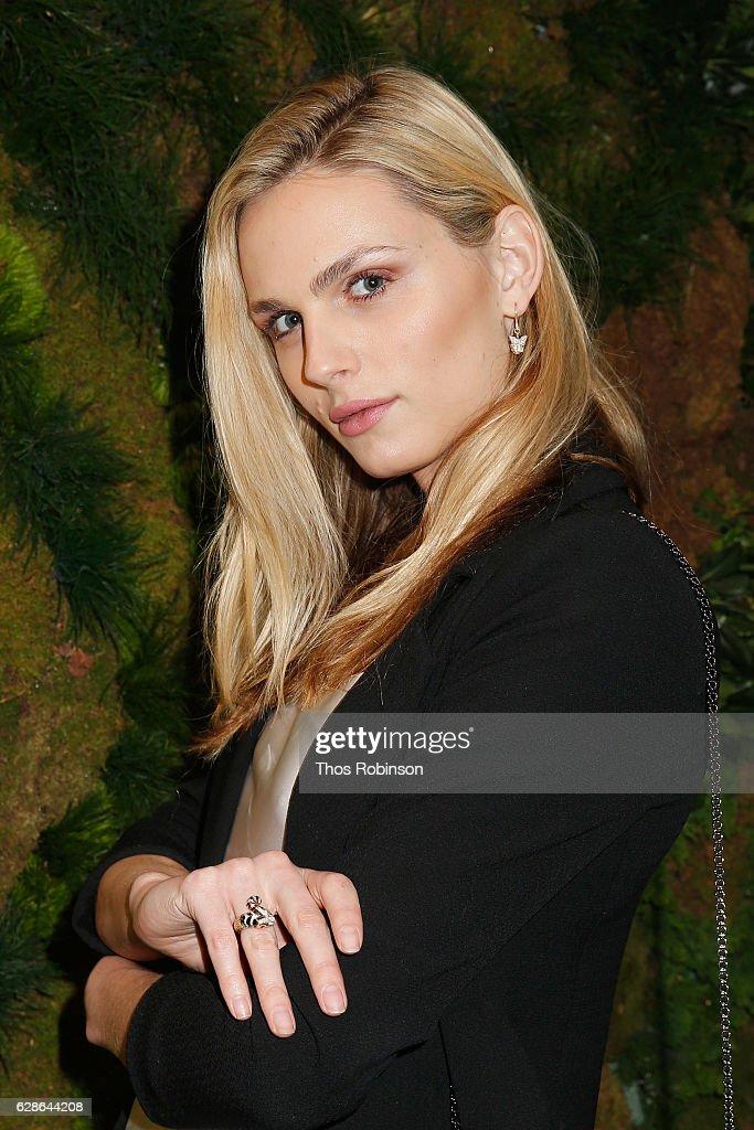Model Andreja Pejic attends the John Hardy Artisan in Residence Launch at John Hardy Soho Flagship on December 8, 2016 in New York City.