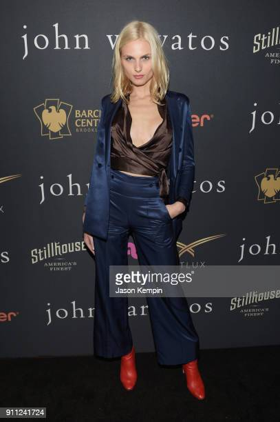 Model Andreja Pejic attends the JVxNJ Launch Event at the Angel Orensanz Foundation on January 27 2018 in New York City