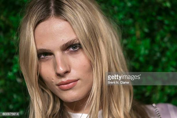 Model Andreja Pejic attends the Saks Downtown x Vogue event held at Saks Downtown on September 8 2016 in New York City