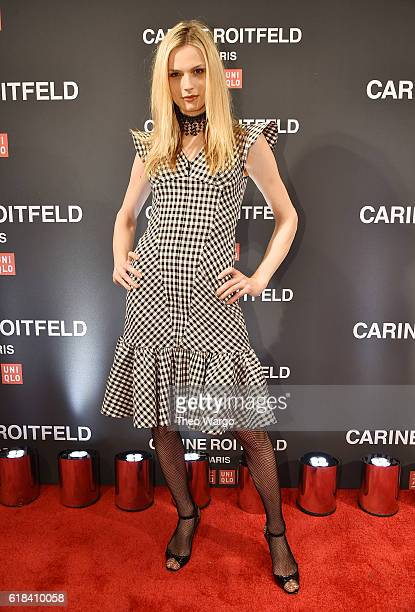 Model Andreja Pejic attends the UNIQLO Fall/Winter 2016 Carine Roitfeld collection launch at UNIQLO on October 26 2016 in New York City