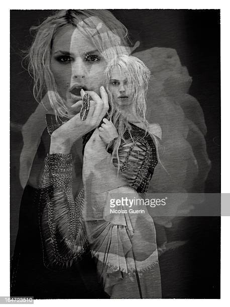 Model Andreja Pejic is photographed for Self Assignment on January 1 2011 in Paris France