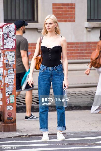 Model Andreja Pejic is seen in the East Village on August 3 2017 in New York City