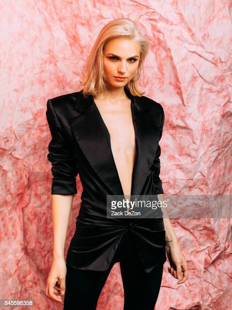 Model Andreja Pejic poses for a portrait during the Daily Front Row's Fashion Media Awards at Four Seasons Hotel New York Downtown on September 8...