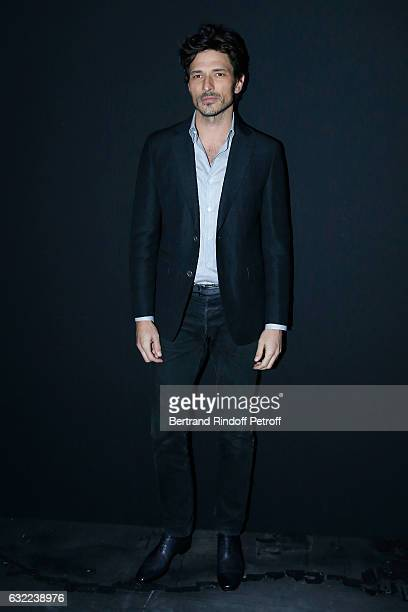 Model Andres Velencoso attend the Berluti Menswear Fall/Winter 20172018 show as part of Paris Fashion Week on January 20 2017 in Paris France