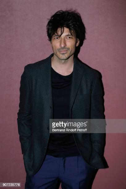 Model Andres Velencoso attends the Berluti Menswear Fall/Winter 20182019 show as part of Paris Fashion Week on January 19 2018 in Paris France