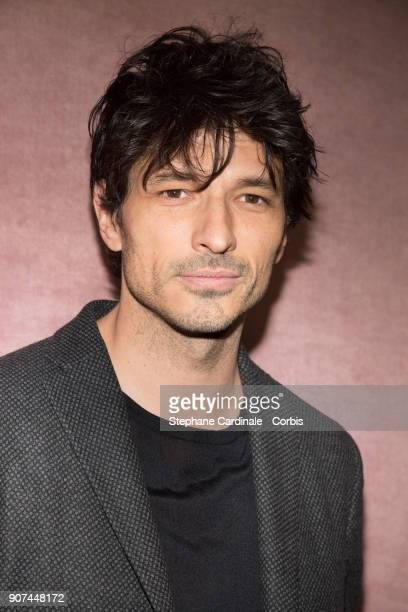 Model Andres Velencoso attends the Berluti Menswear Fall/Winter 20182019 show as part of Paris Fashion Wee January 19 2018 in Paris France