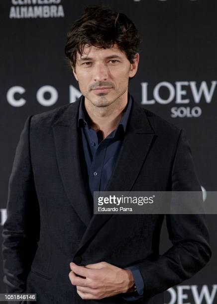 Model Andres Velencoso attends the 'Icon Awards 2018' photocall at Real Tapestry Factory on October 10 2018 in Madrid Spain