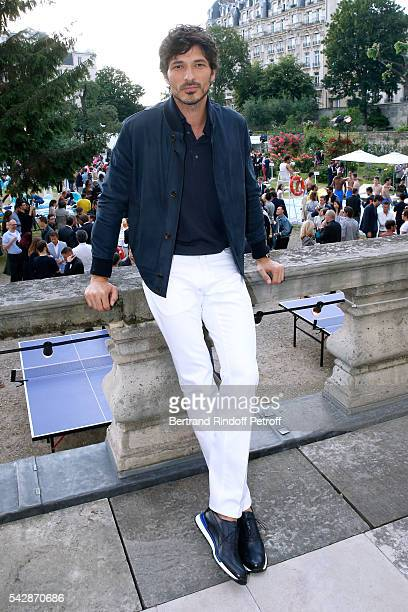 Model Andres Velencoso Segura attends the Berluti Menswear Spring/Summer 2017 show as part of Paris Fashion Week on June 24 2016 in Paris France