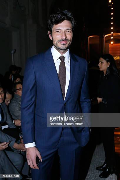 Model Andres Velencoso Segura attends the Berluti Menswear Fall/Winter 20162017 show as part of Paris Fashion Week on January 22 2016 in Paris France