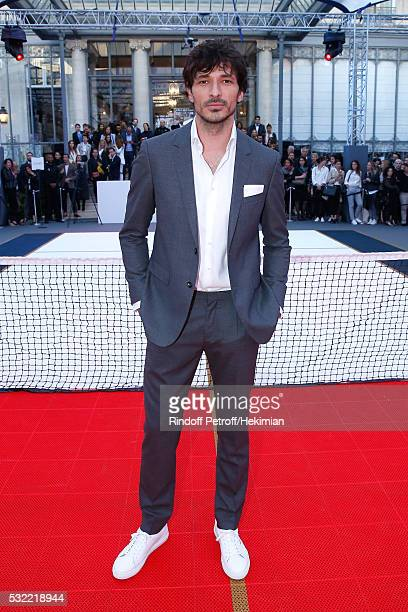 Model Andres Velencoso Segura attends Tommy Hilfiger hosts Tommy X Nadal Party Photocall on May 18 2016 in Paris