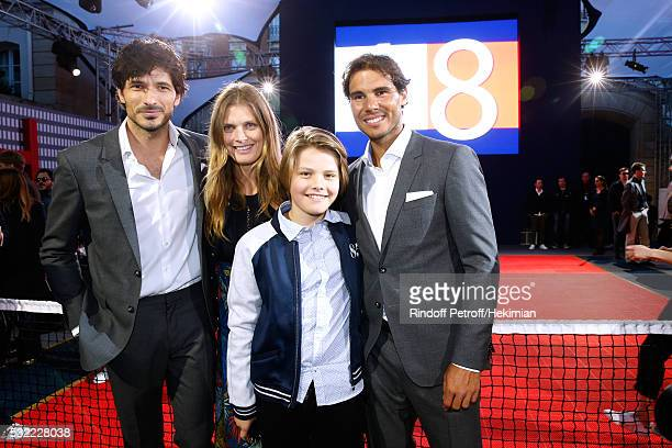 Model Andres Velencoso Segura Malgosia Bela her son Jozef Bela and Tennis player Rafael Nadal attend Tommy Hilfiger hosts Tommy X Nadal Party...