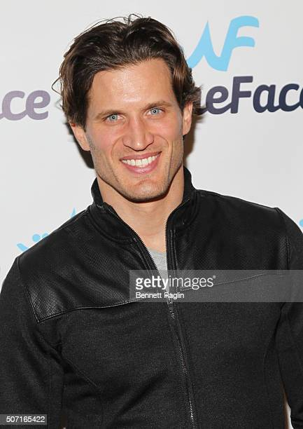 Model Andy Peeke attends the NameFacecom launch party at No 8 on January 27 2016 in New York City