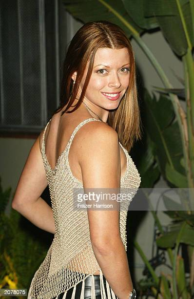 Model Angel Boris attends the 3rd Annual Angels on the Fairway Celebrity Golf Tournament Tee Off Party held at the White Lotus club on June 12 2003...