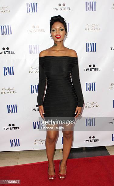 Model Angel Lola Luv arrives at the 11th Annual BMI Urban Awards held at the Pantages Theatre on August 26 2011 in Hollywood California
