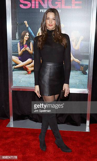 Model Angela Bellotte attends the 'How To Be Single' New York premiere at NYU Skirball Center on February 3 2016 in New York City