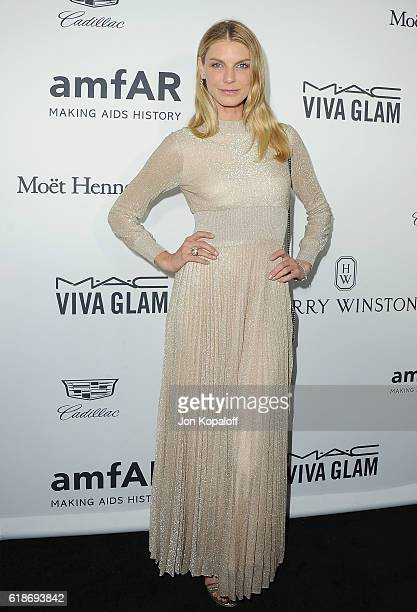 Model Angela Lindvall arrives at amfAR's Inspiration Gala Los Angeles at Milk Studios on October 27 2016 in Hollywood California