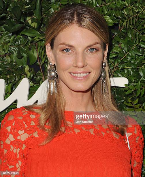 Model Angela Lindvall arrives at Salvatore Ferragamo 100th Year Celebration In Hollywood Rodeo Drive Flagship Store Opening at Salvatore Ferragamo on...