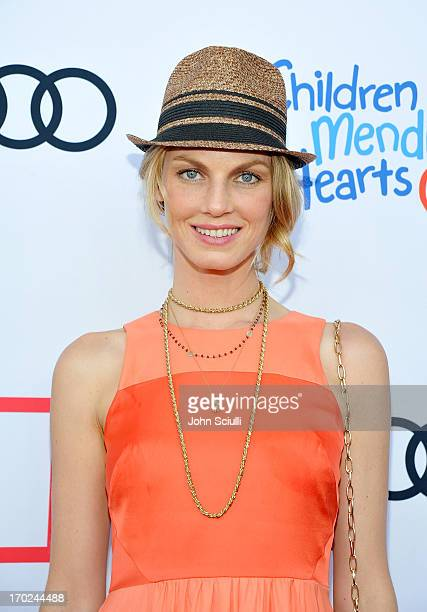 Model Angela Lindvall arrives at the 1st Annual Children Mending Hearts Style Sunday on June 9 2013 in Beverly Hills California