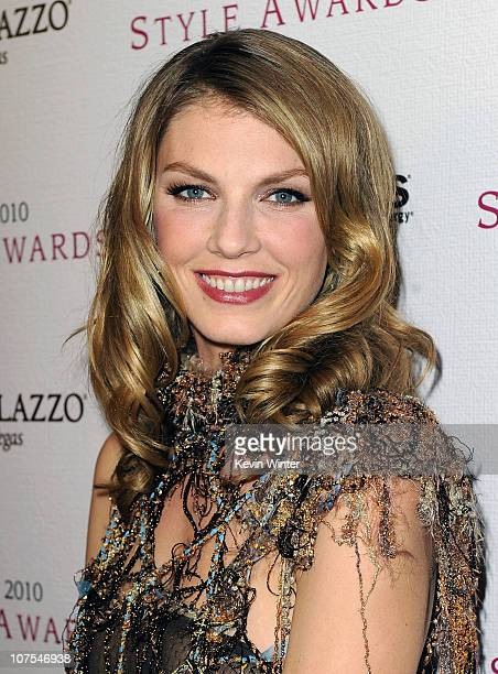 Model Angela Lindvall arrives at the 2010 Hollywood Style Awards at the Hammer Museum on December 12 2010 in Westwood California