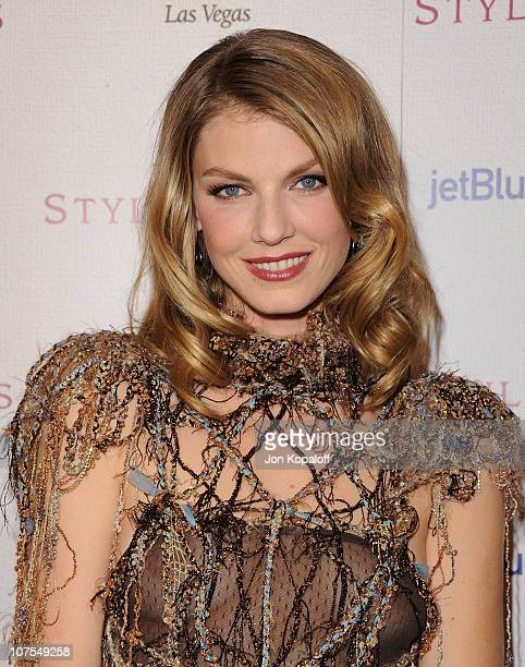 Model Angela Lindvall arrives at the 2010 Hollywood Style Awards at Billy Wilder Theater at The Hammer Museum on December 12 2010 in Westwood...