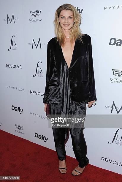 Model Angela Lindvall arrives at The Daily Front Row 'Fashion Los Angeles Awards' 2016 at Sunset Tower Hotel on March 20 2016 in West Hollywood...