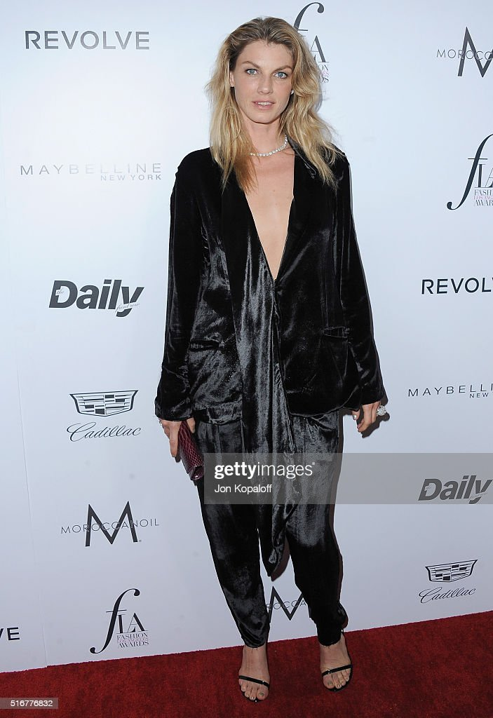 Model Angela Lindvall arrives at The Daily Front Row 'Fashion Los Angeles Awards' 2016 at Sunset Tower Hotel on March 20, 2016 in West Hollywood, California.