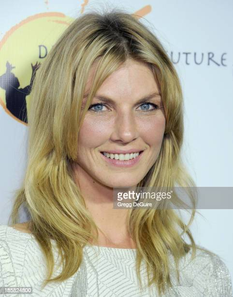 Model Angela Lindvall arrives at the Dream For Future Africa Foundation Gala at Spago on October 24 2013 in Beverly Hills California
