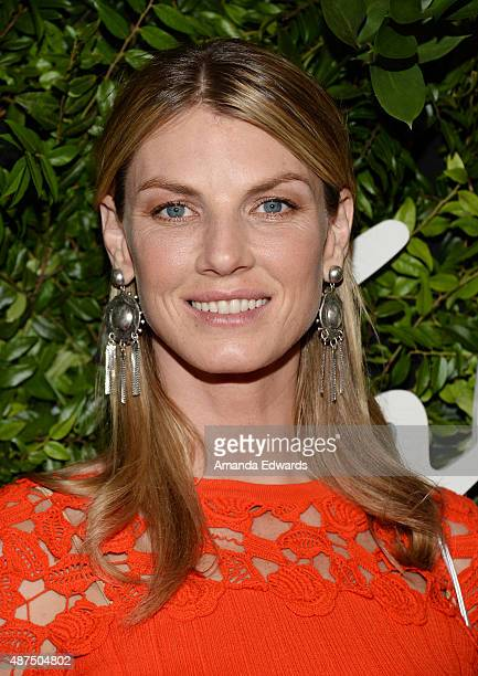 Model Angela Lindvall arrives at the Salvatore Ferragamo 100 Years In Hollywood celebration at the newly unveiled Rodeo Drive flagship Salvatore...