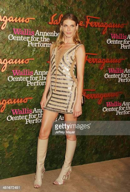 Model Angela Lindvall arrives at the Wallis Annenberg Center For The Performing Arts Inaugural Gala at Wallis Annenberg Center for the Performing...