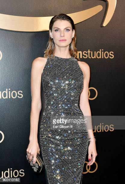Model Angela Lindvall attends Amazon Studios' Golden Globes Celebration at The Beverly Hilton Hotel on January 7 2018 in Beverly Hills California