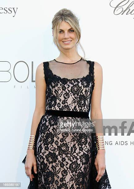 Model Angela Lindvall attends amfAR's 20th Annual Cinema Against AIDS during The 66th Annual Cannes Film Festival at Hotel du CapEdenRoc on May 23...