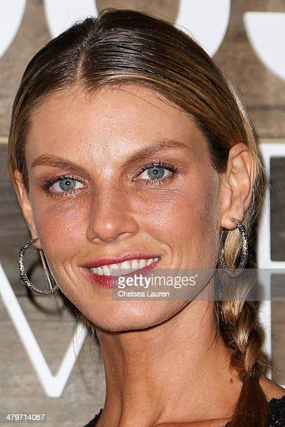 Model Angela Lindvall attends HM Conscious Exclusive Dinner at Eveleigh on March 19 2014 in West Hollywood California