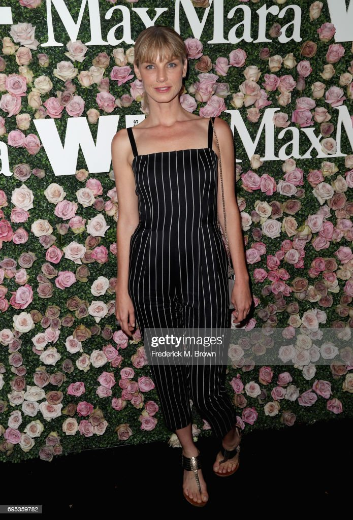 Model Angela Lindvall attends Max Mara Celebration of Zoey Deutch as The 2017 Women In Film Max Mara Face of The Future Award Recipient at Chateau Marmont on June 12, 2017 in Los Angeles, California.