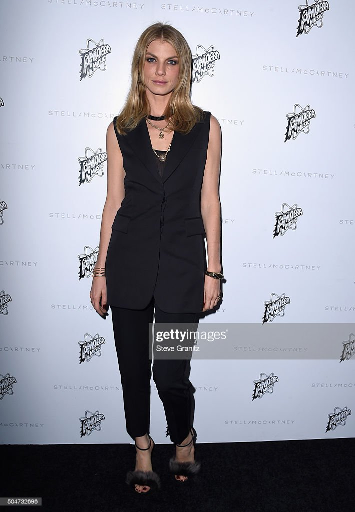 Model Angela Lindvall attends Stella McCartney Autumn 2016 Presentation at Amoeba Music on January 12, 2016 in Los Angeles, California.