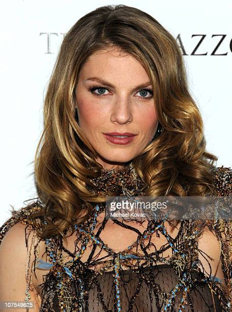 Model Angela Lindvall attends the 2010 Hollywood Style Awards which is transformed into The Palazzo Las Vegas at the Hammer Museum on December 12...