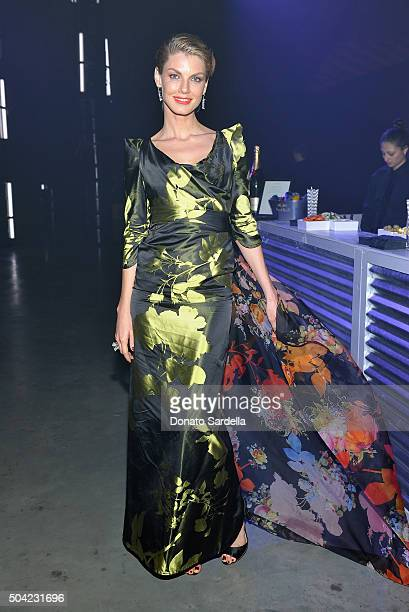 Model Angela Lindvall attends The Art of Elysium 2016 HEAVEN Gala presented by Vivienne Westwood Andreas Kronthaler at 3LABS on January 9 2016 in...