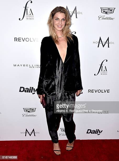 """Model Angela Lindvall attends the Daily Front Row """"Fashion Los Angeles Awards"""" at Sunset Tower Hotel on March 20, 2016 in West Hollywood, California."""