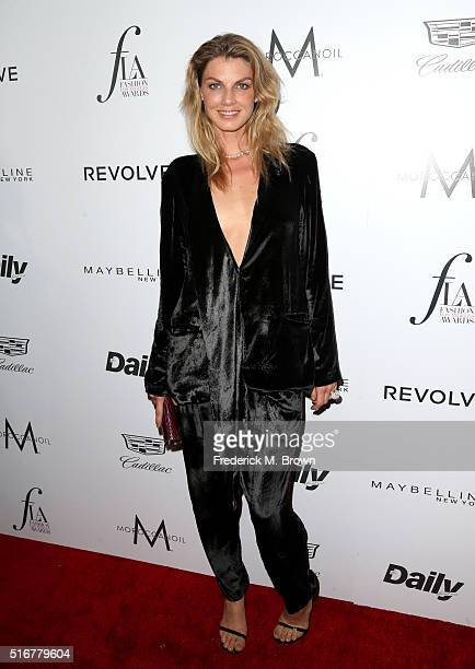 Model Angela Lindvall attends the Daily Front Row 'Fashion Los Angeles Awards' at Sunset Tower Hotel on March 20 2016 in West Hollywood California