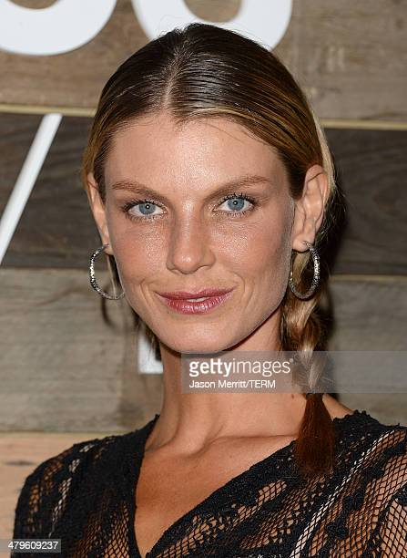 Model Angela Lindvall attends the HM Conscious Collection dinner at Eveleigh on March 19 2014 in West Hollywood California