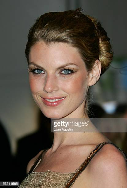 Model Angela Lindvall attends the Metropolitan Museum of Art Costume Institute Benefit Gala Anglomania at the Metropolitan Museum of Art May 1 2006...