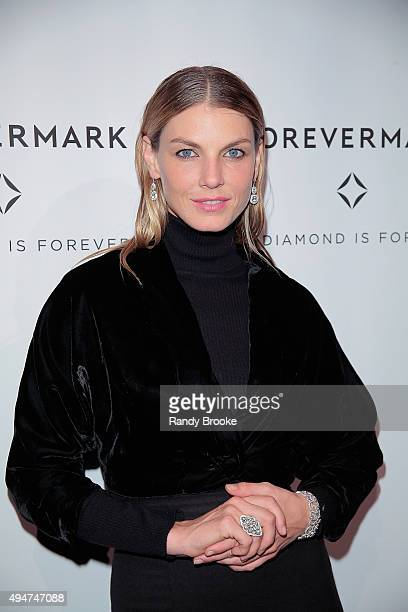 Model Angela Lindvall attends 'The One' New York Premiere at Stephen Weiss Studio on October 28 2015 in New York City