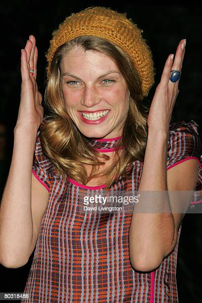 Model Angela Lindvall attends the Prada Los Angeles screening of 'Trembled Blossoms' at Prada Beverly Hills Epicenter on March 19 2008 in Beverly...