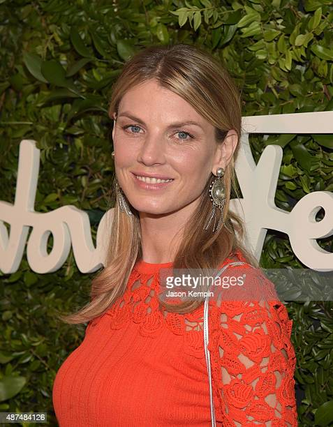 Model Angela Lindvall attends the Salvatore Ferragamo Celebration of 100 Years in Hollywood with the newly unveiled Rodeo Drive flagship at Salvatore...