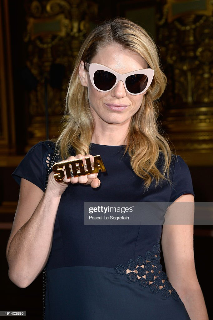 Model Angela Lindvall attends the Stella McCartney show as part of the Paris Fashion Week Womenswear Spring/Summer 2016 on October 5, 2015 in Paris, France.