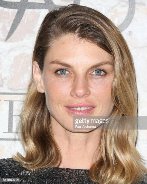 Model Angela Lindvall attends the TAO Beauty and Essex Avenue and Luchini LA Grand Opening on March 16 2017 in Los Angeles California
